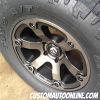 18x9 Fuel Beast D564 Black with Dark Tint Machined Wheel - 35x12.50r18 Toyo Open Country AT2