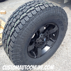 17x8 XD Rockstar 2 XD811 black wheel - LT285/70r17 Toyo Open Country AT2