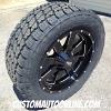 20x9 Moto Metal 962 black wheel - LT285/55r20 Nitto Terra Grappler G2