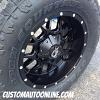 18x9 Dropstars 645B matte black wheel - LT285/65r18 Toyo Open Country ATII tires