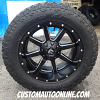 20x10 Fuel Maverick D538 black and milled wheel - LT305/55r20 Toyo Open Country AT2 tire