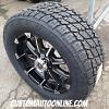 20x9 XD Badlands 779 Black and Machined wheel - 305/50r20 Nitto Terra Grappler G2