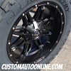 20x10 Fuel Offroad Hostage D531 black wheel - 35x12.50r20 Toyo Open Country MT