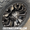 18x9 Fuel Assault D546 Black and Milled wheel - LT285/65r18 Nitto Trail Grappler