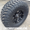 17x9 Fuel Coupler D556 black with dark tint machined - 37x13.50r17 Toyo Open Country RT
