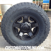 17x8 KMC XD Rockstar 2 XD811 black wheel - 35x12.50r17 Toyo Open Country RT