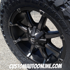 20x9 Fuel Coupler D556 Black with dark tint machined wheel - 35x12.50r20 Toyo Open Country MT