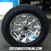 20x9 XD Badlands 779 chrome wheel - LT295/55r20 Toyo Open Country AT2 tire