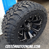 20x10 Fuel Assault D546 Black and Milled wheel - 35x12.50r20 Toyo Open Country MT