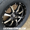 20x9 Moto Metal 970 Black and Machined wheel - LT305/55r20 Nitto Terra Grappler G2 tires