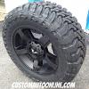 20x9 KMC XD Rockstar 2 Black with 35x12.50r20 Toyo Open Country MT