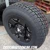 17x9 KMC XD Rockstar 775 black wheel - 285/70r17 Nitto Terra Grappler G2