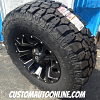 17x9 Fuel Assault D546 Black and Milled wheel - LT285/70r17 Wild Country MTX