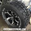 17x9 Helo Maxx HE791 black and milled wheel - 33x12.50r17 Hercules Trail Digger MT