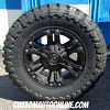 18x9 XD Monster 2 822 Black wheel with 33x12.50r18 Toyo Open Country MT tires