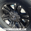 18x9 XD Monster 2 822 Black wheel with LT305/65r18 Nitto Terra Grappler G2's