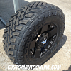 17x9 XD Rockstar 775 black wheel wiith LT295/70r17 Toyo Open Country MT tires