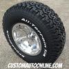 15x8 Pacer Warrior 187p polished aluminum wheel with 31x10.50r15 BFGoodrich TA KO