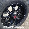 20x9 Worx Tyrant black and milled wheel - 275/60r20 Nitto Terra Grappler G2