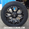 20x9 Fuel Assault D546 black and milled wheel - LT285/55r20 Nitto Terra Grappler G2