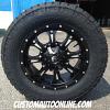20x9 Fuel Krank D517 Black and Milled - LT295/60r20 Nitto Terra Grappler G2