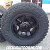 18x9 XD Rockstar 2 811 black wheel - 35x12.50r18 Nitto Trail Grappler MT