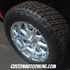 20x9 XD Badlands 779 Chrome wheel - 275/60r20 Nitto Terra Grappler G2