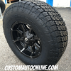 17x9 Fuel Coupler D556 dark tint machined and black wheel - LT295/70r17 Nitto Terra Grappler G2