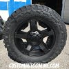 20x9 XD Rockstar 2 811 black with 35x12.50r20 Federal Couragia MT tires