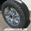 20x9 XD Crank 801 chrome wheel - LT285/55r20 Nitto Terra Grappler G2