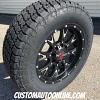 20x9 Worx 805 Tyrant Black and milled wheel - LT285/65r20 Nitto Terra Grappler G2