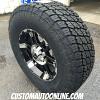 18x8.5 XD Spy black wheel - LT295/70r18 Nitto Terra Grappler G2