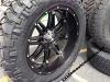 24x11 Fuel Hostage D531 Black rim - 38x13.50r24 Nitto Trail Grappler