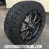 20x9 Fuel Maverick D538 black and milled wheel - LT275/55r20 BFGoodrich TA KO2