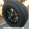 20x9 Fuel Maverick D538 black and milled wheel - 35x12.50r20 Toyo Open Country AT2