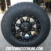 17x9 Fuel Hostage D531 Black wheel - 285/70r17 Nitto Terra Grappler G2