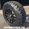 18x9 XD Heist 818 Satin Black wheel - LT275/65r18 Toyo Open Country MT