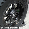 20x10 Fuel Hostage Black - 38x13.50r20 Toyo Open Country M/T