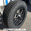 20x9 Fuel Maverick D538 black and milled wheel - LT275/65r20 Nitto Terra Grappler G2