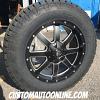 20x9 Fuel Maverick D538 black and milled wheel - LT275/65r20 Nitto Terra Grappler G2