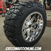 20x12 XD Trap 823 PVD Chrome wheel - 35x12.50r20 Nitto Mud Grappler Extreme MT