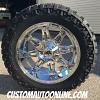 20x10 Fuel Hostage D530 chrome wheel - LT295/55r20 Nitto Trail Grappler