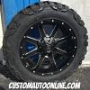 20x10 Fuel Maverick D538 Black and Milled wheel - 33x12.50r20 Nitto Mud Grappler MT