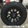 17x9 XD Misfit 800 Black wheel - 265/70r17 BFGoodrich T/A KO2