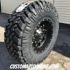 17x9 Fuel Krank D517 black and milled wheel - 35x12.50r17 Nitto Trail Grapplers