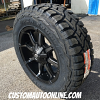 20x9 Fuel Coupler D556 Black with dark tint machined - LT275/65r20 Toyo Open Country RT