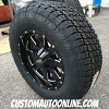 18x9 Moto Metal 962 black wheel - 275/65r18 Nitto Terra Grappler G2