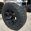 18x9 Fuel Beast D564 Black with Dark Tint Machined - LT275/70r18 Toyo Open Country MT