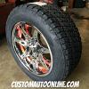18x9 Moto Metal 961 Chrome w/ red inserts - 255/55r18 Nitto Terra Grappler G2