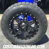 18x9 Moto Metal 975 black and milled wheel - 285/60r18 Nitto Terra Grappler G2